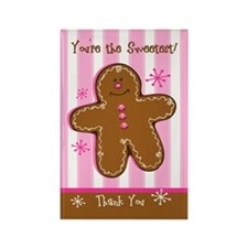 Sweet Gingerbread Thank You Rectangle Magnet