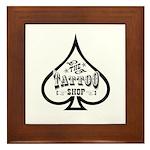 The Tattoo Shop Spade designs Framed Tile