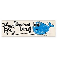 Beached Bro Bumper Car Sticker