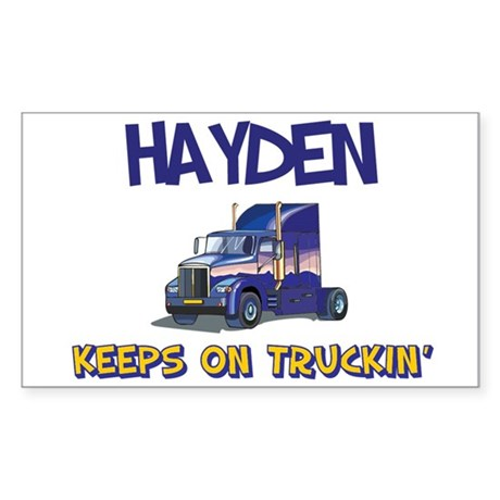 Hayden Keeps on Truckin Rectangle Sticker