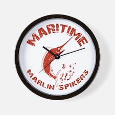 Maritime Marlin Spikers Wall Clock