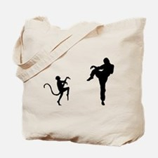 Kungfu Fight Tote Bag