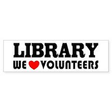 Library Volunteer Bumper Bumper Sticker