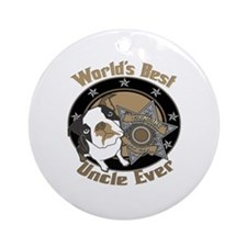 Top Dog Uncle Ornament (Round)