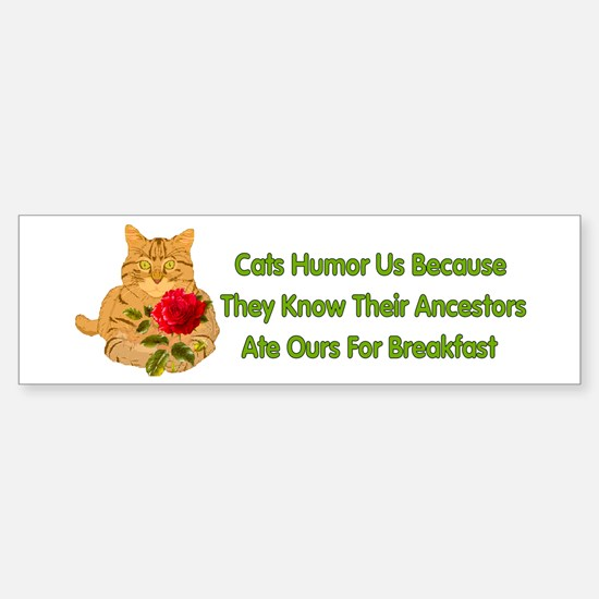 Cats Humor Us Bumper Bumper Bumper Sticker
