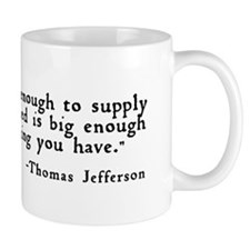 """Government big enough ..."" Mug"