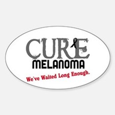 CURE Melanoma 3 Oval Decal