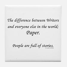 Writers world Tile Coaster