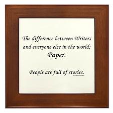 Writers world Framed Tile