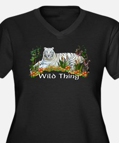 Wild Thing Women's Plus Size V-Neck Dark T-Shirt
