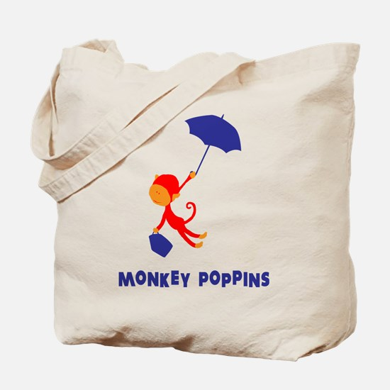 Monkey Poppins Tote Bag