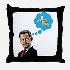 Nicolas Sarkozy Throw Pillow