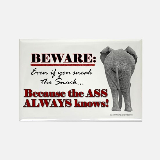 """""""The Ass Always Knows"""" Fridge Magnet"""