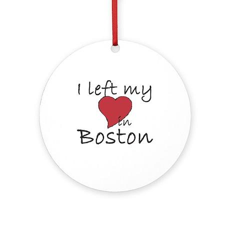 I left my heart in Boston Ornament (Round)