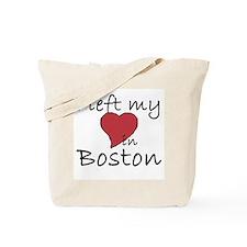 I Left My Heart In Boston Tote Bag