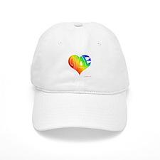 Chloe (Rainbow Heart) Baseball Cap