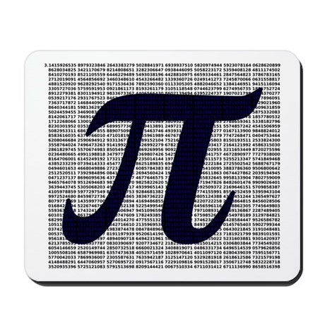Pi to 3500 decimal places Mousepad
