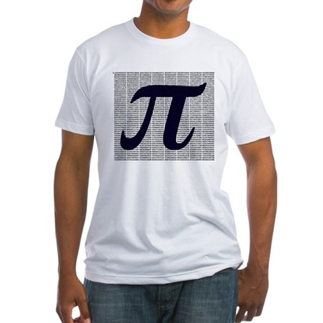Pi to 3500 decimal places Fitted T-Shirt