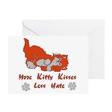 More Kitty Kisses Greeting Card