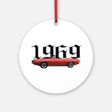 1969 Pontiac Firebird Ornament (Round)