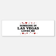 Loves Me in Las Vegas Bumper Bumper Bumper Sticker