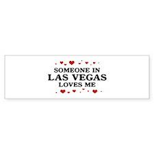 Loves Me in Las Vegas Bumper Bumper Sticker