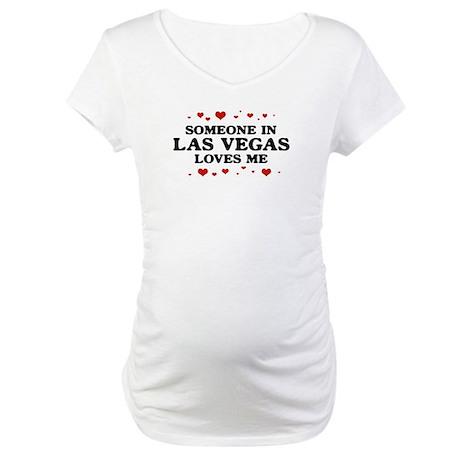 Loves Me in Las Vegas Maternity T-Shirt