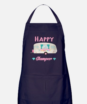 Happy Camper T Shirt Apron (dark)