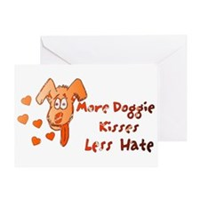 More Doggie Kisses Greeting Card
