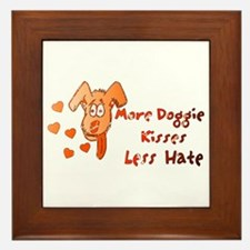 More Doggie Kisses Framed Tile