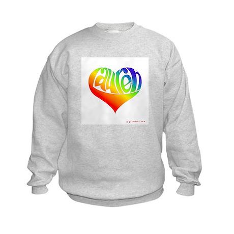 Lauren (Rainbow Heart) Kids Sweatshirt