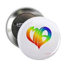 """MIa (Rainbow Heart) 2.25"""" Button"""