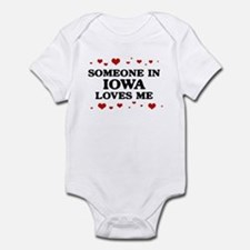 Loves Me in Iowa Onesie
