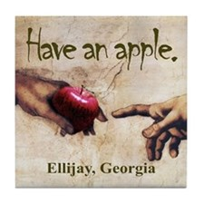 Have an Apple - Ellijay, GA Tile Coaster