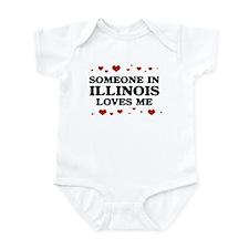 Loves Me in Illinois Infant Bodysuit