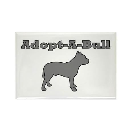 Adopt-A-Bull Rectangle Magnet