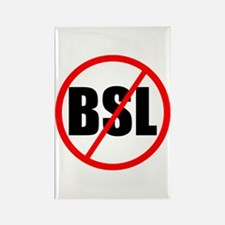 No to BSL! Rectangle Magnet (100 pack)