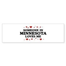 Loves Me in Minnesota Bumper Bumper Sticker