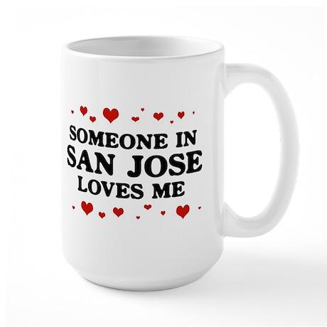 Loves Me in San Jose Large Mug