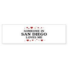 Loves Me in San Diego Bumper Sticker