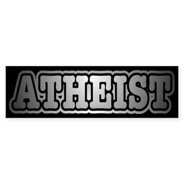 Retro Atheist Bumper Bumper Sticker By Freethghtmedia