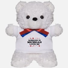 Loves Me in Michigan Teddy Bear