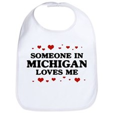 Loves Me in Michigan Bib