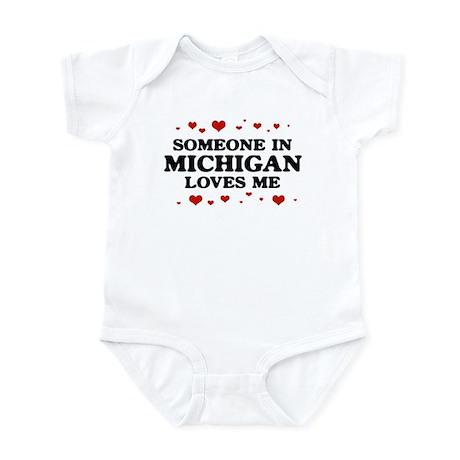 Loves Me in Michigan Infant Bodysuit