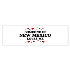 Loves Me in New Mexico Bumper Bumper Sticker