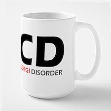 Obsessive Corgi Disorder Large Mug