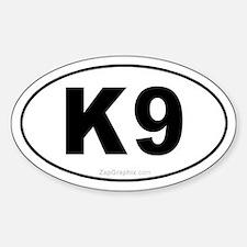 K9 Euro Oval Bumper Stickers