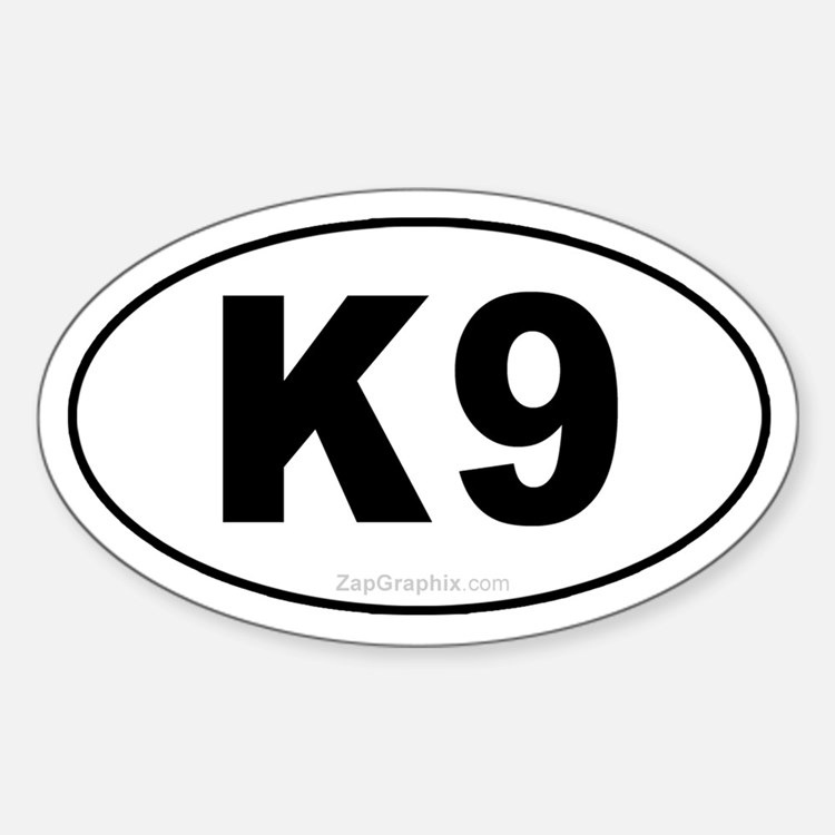 K9 Euro Oval Decal
