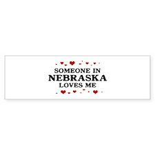 Loves Me in Nebraska Bumper Bumper Sticker