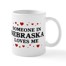 Loves Me in Nebraska Small Mugs